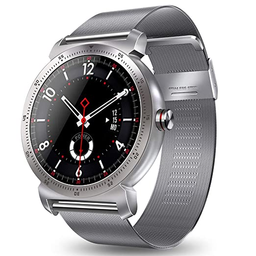 Smart Watch K88h Plus, para Hombres, Mujeres, rastreador de Ejercicios, sueño y presión Arterial Monitor de calorías/Contador de Pasos, para Android e ...