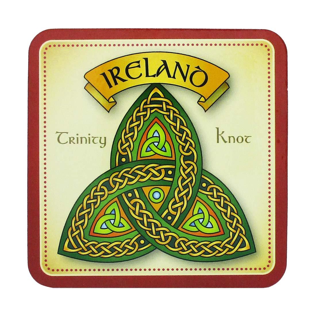 Royal Tara Irish Celtic Coaster with Trinity Knot Design and Ireland Text