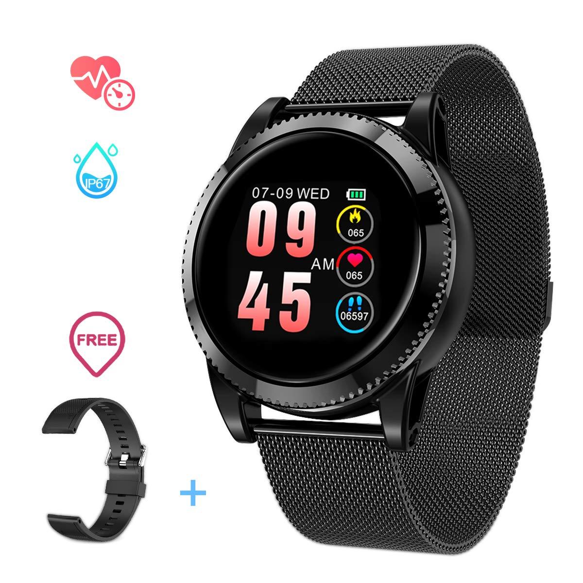 GOKOO Smartwatch Hombre Mujer Android, Pulsera Actividad Inteligente para Deporte, Reloj Iinteligente Hombre Mujer, Reloj de Fitness con Podómetro ...