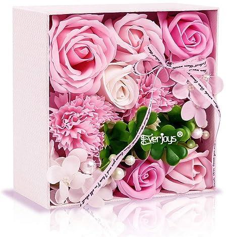 ソープフラワー 創意方形ギフトボックス 母の日 誕生日 記念日 先生の日 バレンタインデー 昇進