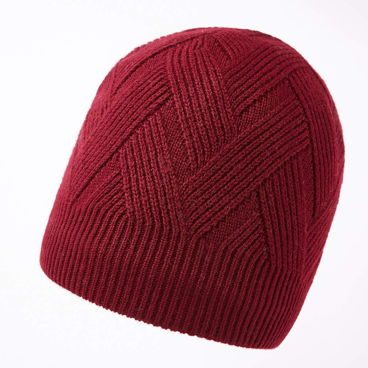 a7f0445cb37e6 RIONA 100% Laine Bonnet Unisexe Hiver Chapeau tricoté Homme Beanie Hats  Hiver Chapeau Wool Beanie pour Homme Taille Unique: Amazon.fr: Vêtements et  ...
