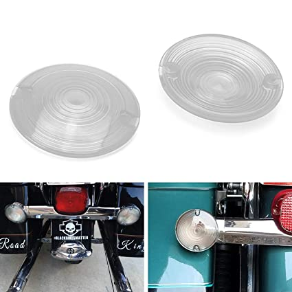 0ce7d625 Amazon.com: iJDMTOY (2) Crystal Clear Flat Turn Signal Light Lens Covers  For Harley Davidson Touring Electra Glide Road King Sportster Motorcycle  Bike ...