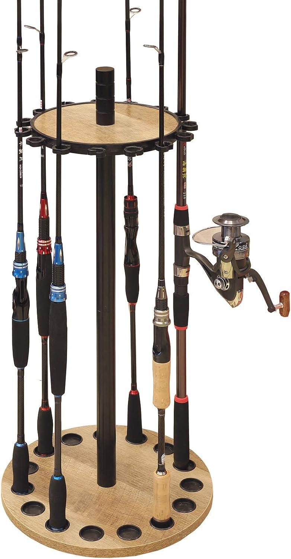 Black16 Rods Fishing Rod Rack Stand Combos Storage Organizer Pole Rests Spor