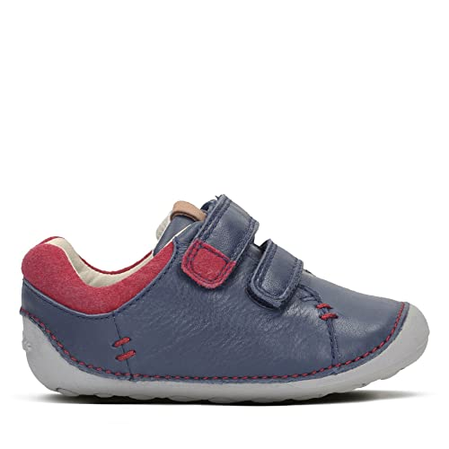 Clarks Tiny Toby Boys First Shoes 4.5 Navy 3nKlqaxv46