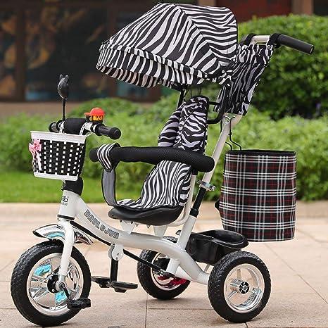 RZ-Melhor Multifuncional triciclo infantil carrito de bebé 1-6 años de edad infantil