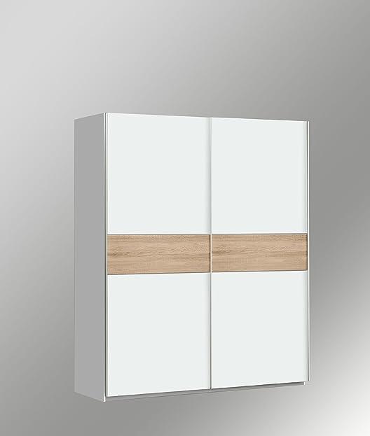 Schwebetürenschrank weiß 150 breit  Kleiderschrank Schwebetürenschrank Schiebetürenschrank ca. 150 cm ...