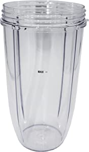 Blendin Replacement 32 Ounce Extra Large Colossal Cup Jar, Compatible with Nutribullet 600W, 900W, Pro 900 Series, NB-101B Blender Juicer