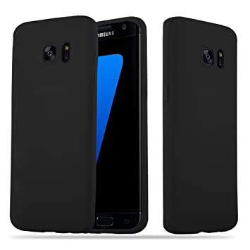 Cadorabo Funda para Samsung Galaxy S7 Edge en Candy Negro – Cubierta Proteccíon de Silicona TPU Delgada e Flexible con Antichoque – Gel Case Cover ...