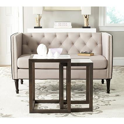 Attirant Safavieh Home Collection Egan White And Dark Brown Nesting Tables