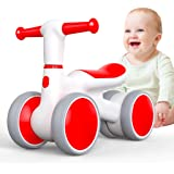 Baby Balance Bike for 1 Year Old, Toddler Bike 12-24 Months, 4 Wheels No Pedal Baby Push Bike, 1st Birthday Gift for Baby Boy