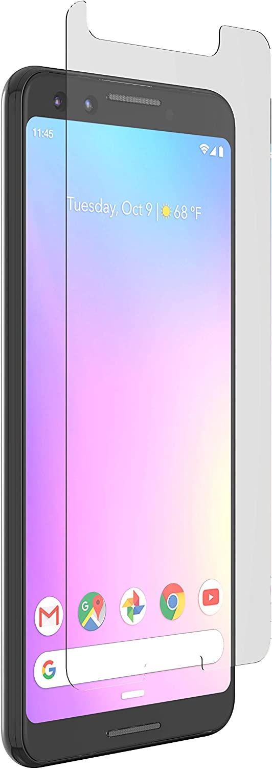 ZAGG InvisibleShield Glass+ VisionGuard - Protect Your Eyes and Your iPad - Made for Google Pixel 3 - Case Friendly Screen Protection