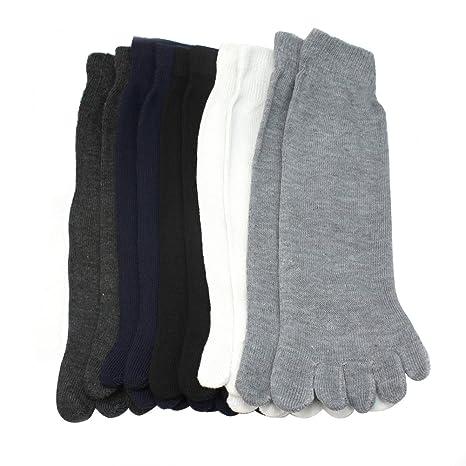5 Pares de Calcetines Cinco Dedos del Pie Separados Mezcla del Algodón Unisex