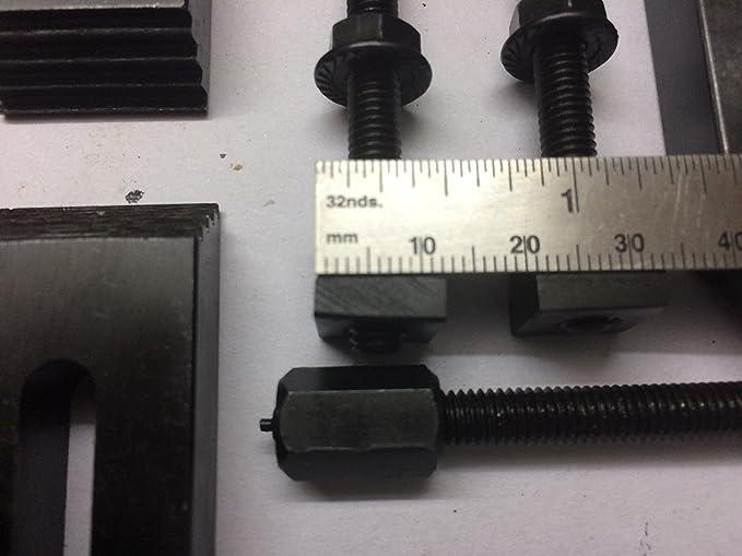 Global Tools fresadoras placas faciales y diapositivas verticales 6 mm Juego de 24 abrazaderas M6 para mesas rotativas