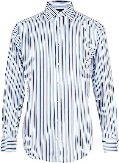 Marks and Spencer M&S - Camisa de manga larga para hombre de ...