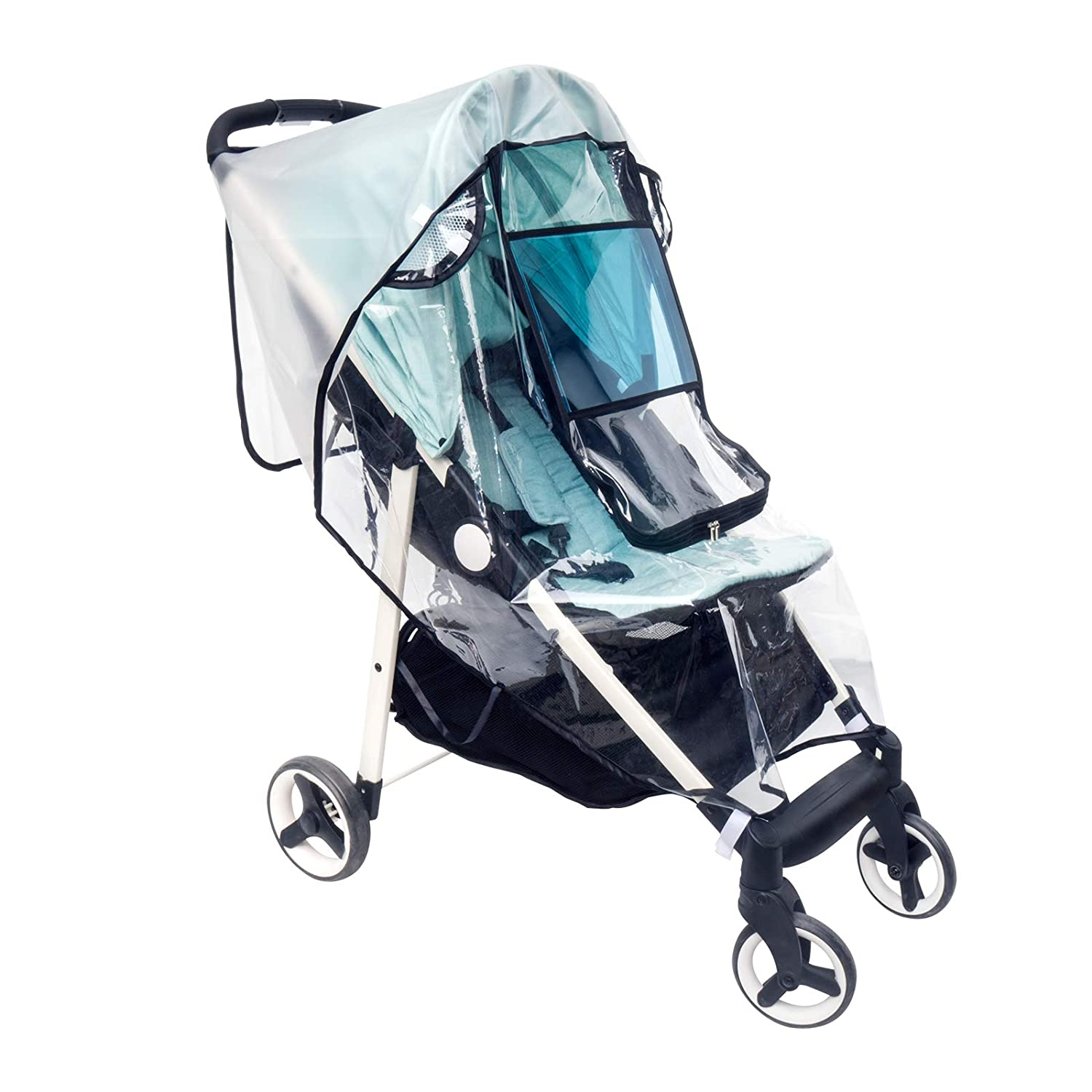 HOOMEE Stroller Rain | Wind Cover Universal, Pram Weather Shields, UV Protection Sun Cover For Pushchairs, Extra Mosquito Net Provided.
