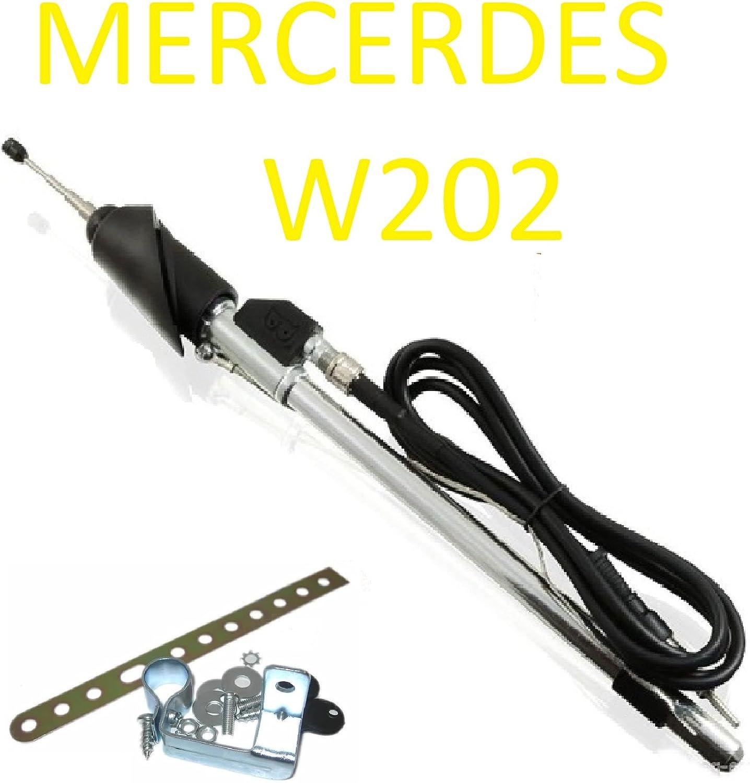 Mercedes W202 C180 C200 C220 Wing Antenne Teleskopantenne Din Stecker Antennen Auto