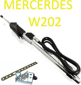 Mercedes W202 C180 C200 C220 ala antena telescópica Antena DIN conector de antena