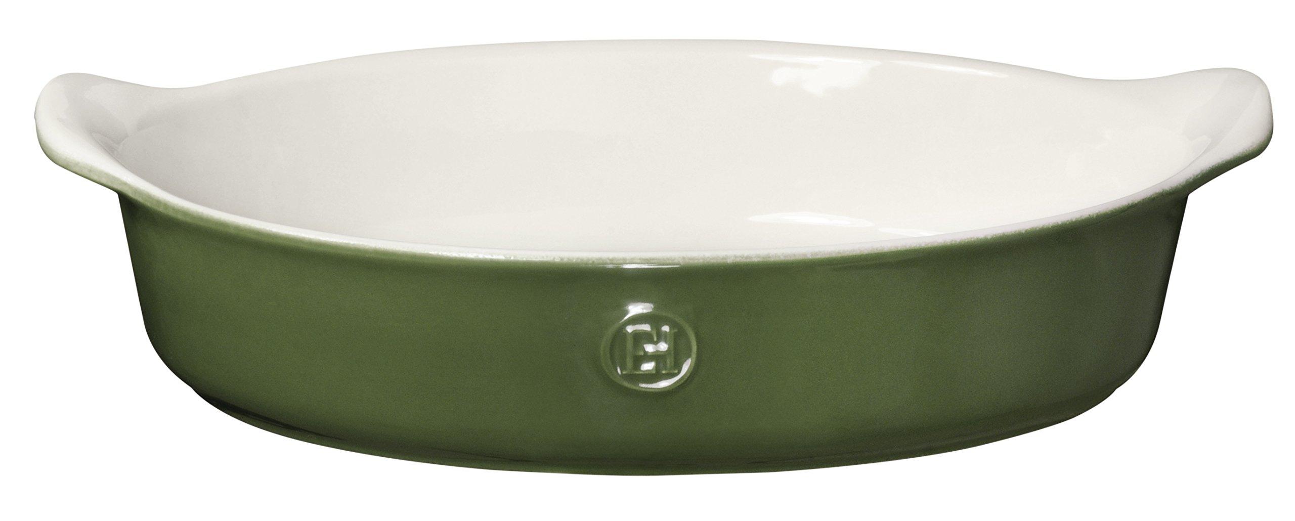 Emile Henry Made In France HR Modern Classics Oval Baker, 14.2 x 9.4'', Green