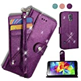AYMECL Galaxy S5 Wallet Case, Galaxy S5