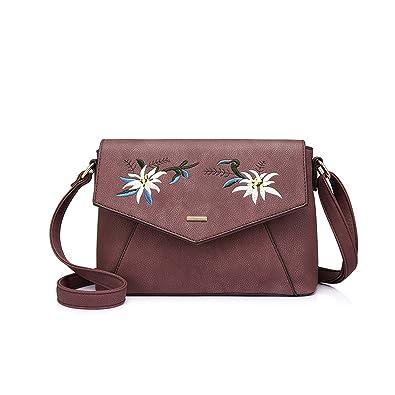 Amazon.com: Mujeres crossbody bolsa de hombro hembra flores ...