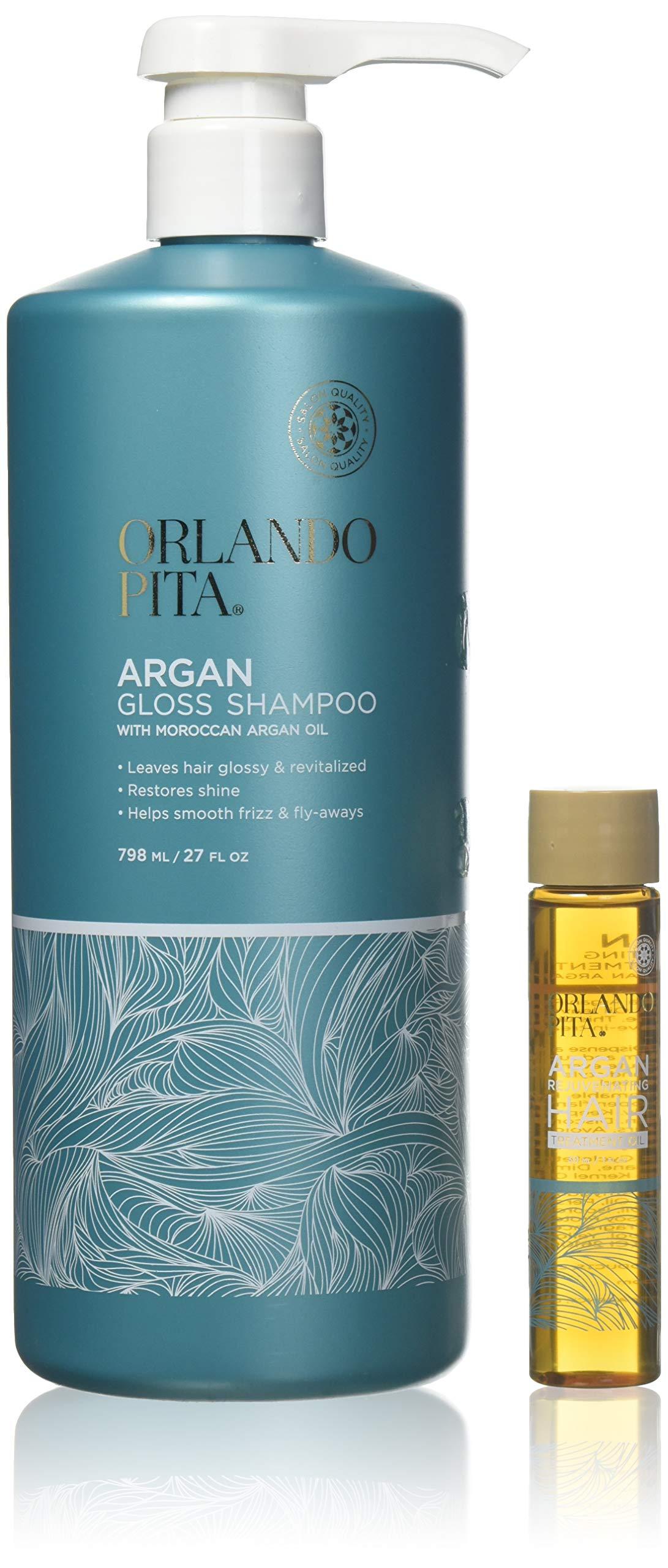 Orlando Pita Argan Gloss Shampoo with Moroccan Argan Oil Salon-Quality by Orlando Pita