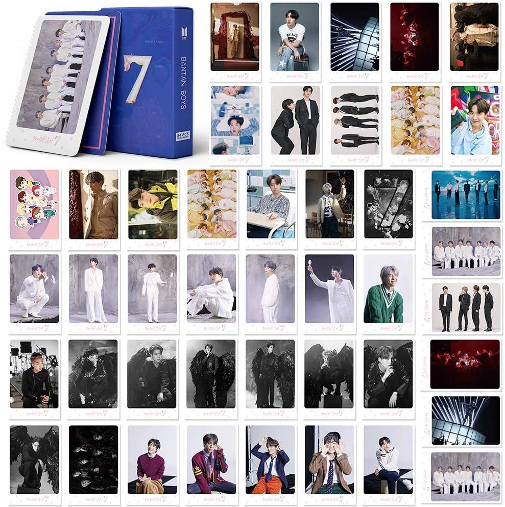 map 7-pink BTS LOMO Cards 54Pcs BTS Map of the soul 7 Card New album Card BANTAN Boys BTS Postcards Map 7 Cards