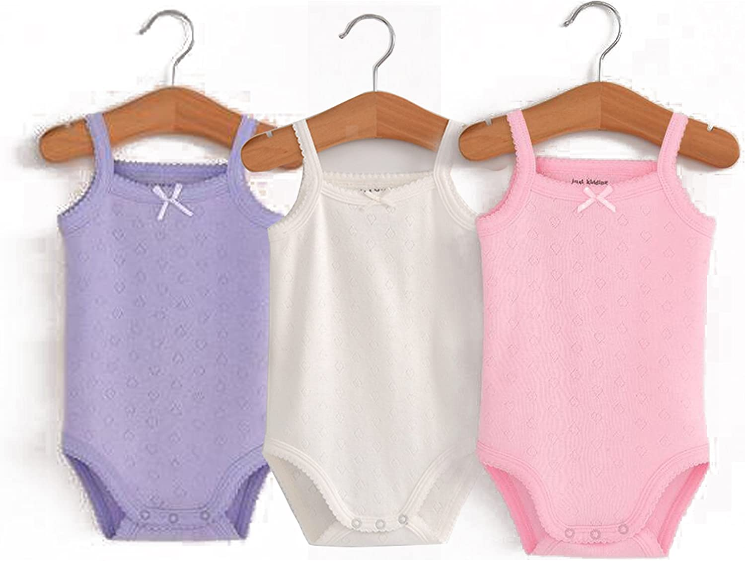 Infant Baby Girls Sleeveless Onesies Tank Top Cotton Baby Bodysuit Pack of Baby Summer Colorful Clothes Outfit