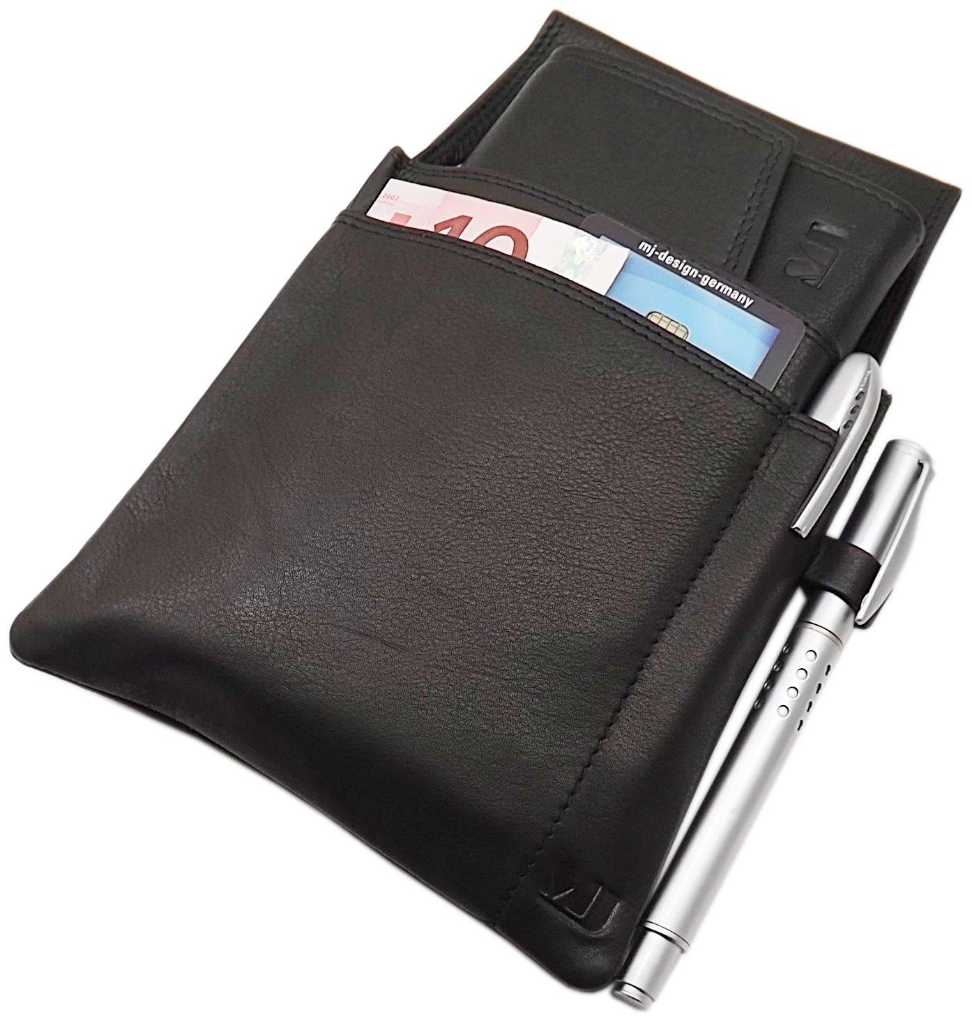Pelle di vitello cameriere fondina MJ-Design-Germany in nero