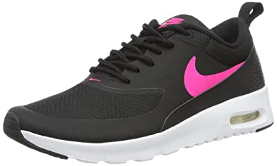 Nike Girls Air Max Thea, Black/White/Hyper Pink, 3.5 Big Kid