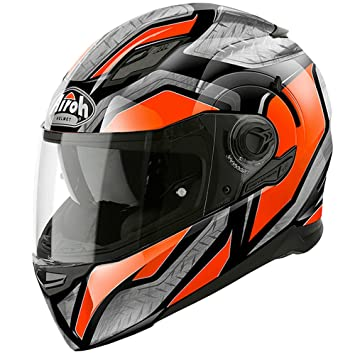 Airoh movement-s ACU DVS de cara completa casco de moto – acero brillante naranja