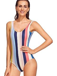5377862c2d4 Longra Ropa Bikini de Rayas Estampado a Rayas para Mujer Bañador de ...