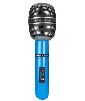 Micrófono hinchable - Única: Amazon.es: Juguetes y juegos
