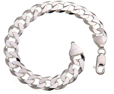 Panzerkette und armband silber
