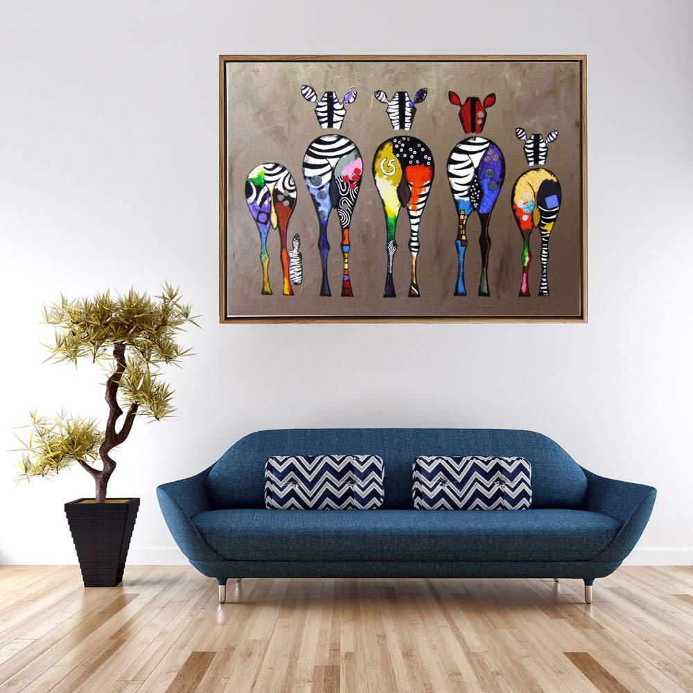 RQMQRL Colorate Giraffe Astratte Home Decor Wall Art Immagini HD Stampa su Tela Lovely Animals Pop Art Pittura per Baby Room Decor