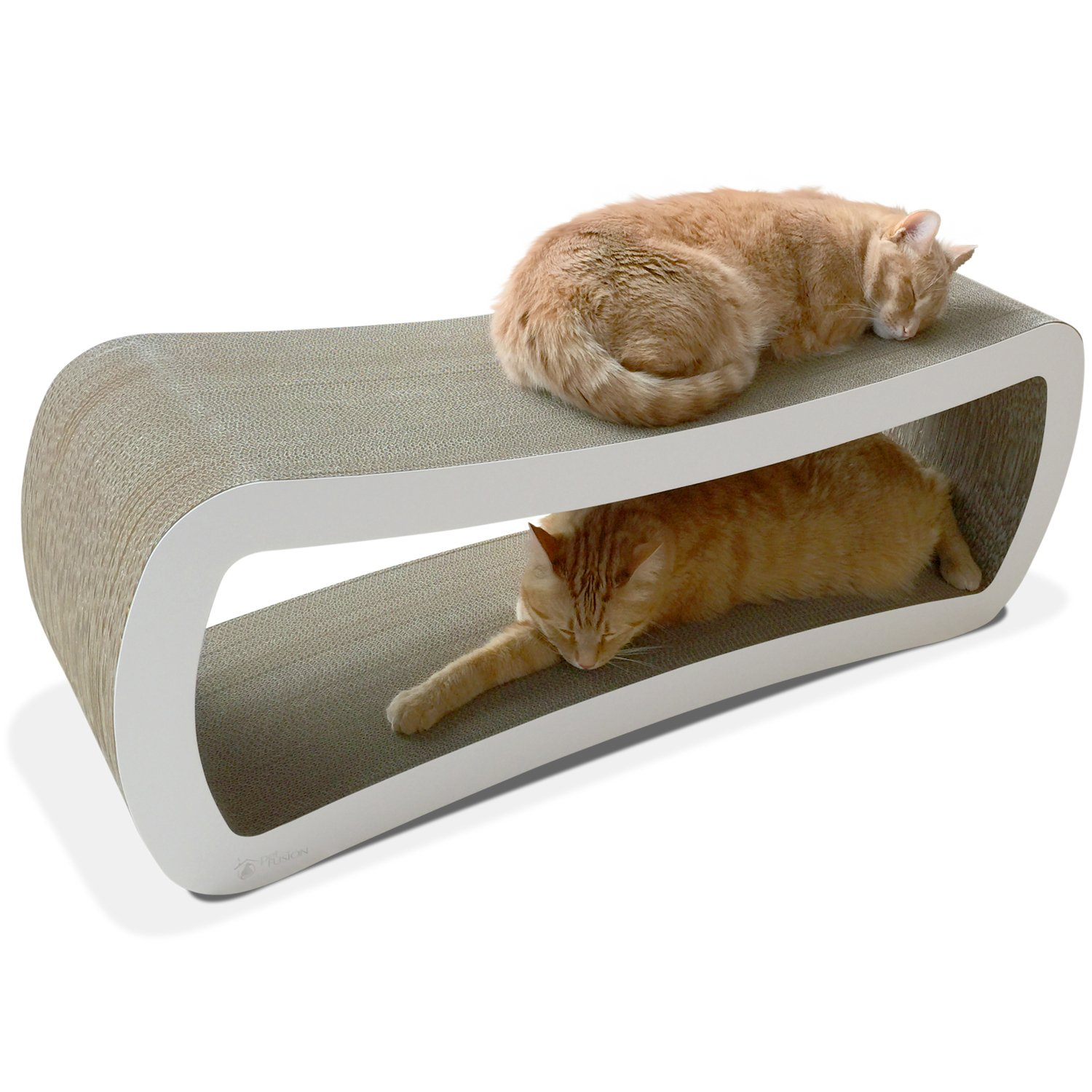 PetFusion Jumbo Cat Scratcher Lounge White