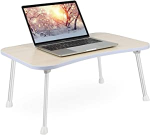 Laptop Bed Tray Table, Lap Desks Bed Trays for Eating and Laptops Stand Lap Table, Portable Standing Table with Foldable Legs, Foldable Lap Tablet Table for Sofa Couch Floor - Medium Size
