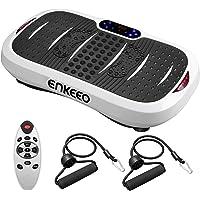 ENKEEO Fitness Plateforme Vibrante Oscillante pour Musculation, 5 Programmes d'Entrainement et 3 Zones de Vibration, Très Pratique Durable et Sécurité pour Perdre de Poids Plus Efficace