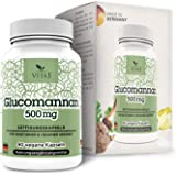 VITA1 Glucomannan 500mg • 90 Sättigungskapseln (2 Wochen Vorrat) • veganer Appetitzügler aus der Konjacwurzel • Hergestellt in Deutschland