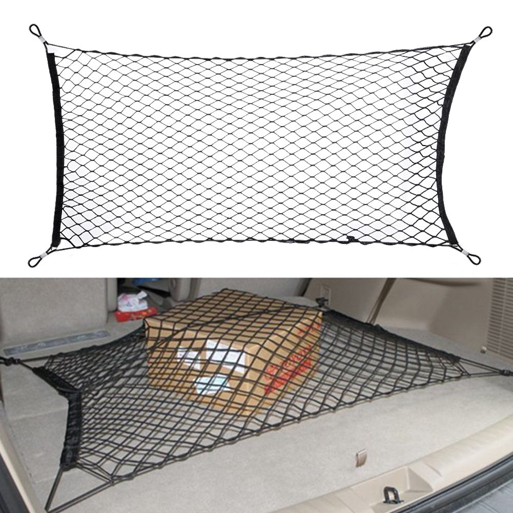 Everpert Car Trunk Cargo Luggage Net Holder Fit for Audi Q3 Q5 Q7 A3 A4 A5 A6 A7 A8