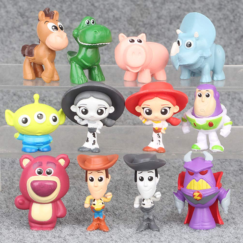 9PCS BRANSALES Toy Story Collection 1.5-2 Mini Figures Set Toy Story Cake Toppers Cartoon Action Figures
