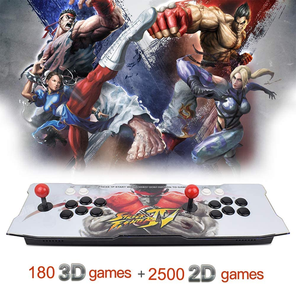 XFUNY. Arcade Game Console 1080P 3D & 2D Games 2680 in 1 Pandora's Box 3D 2 Players Arcade Machine with Arcade Joystick Support Expand Games 6000+ for PC / Laptop / TV / PS4 (B)