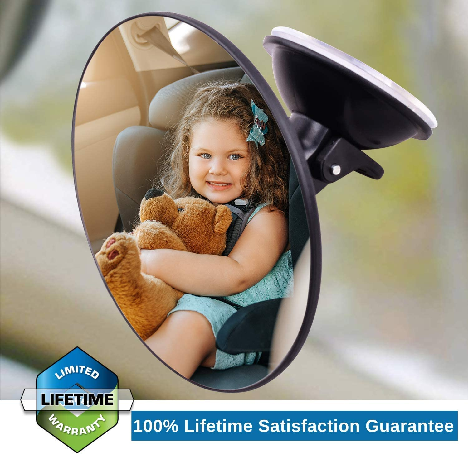 Safest Shatterproof Baby Mirror for Car Rear View Baby Car Seat Mirror to Keep an Eye on Baby or Kids in a Rear Facing Child seat VAWcornic Baby Car Mirror for Back Seat