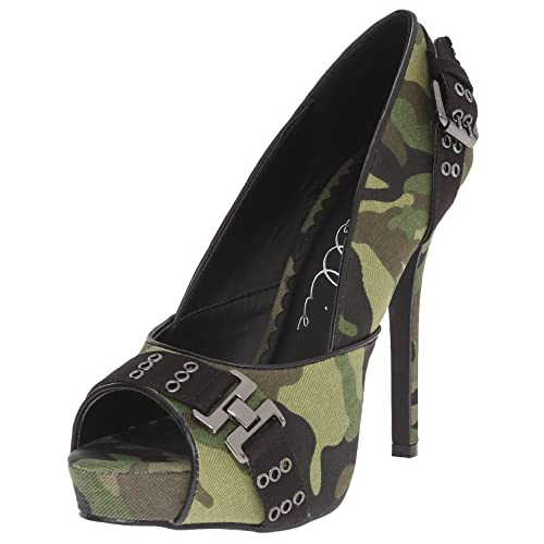 4 Inch High Heel Pump Shoes Camo Green Army Costume Shoes Militaryp Toe Size