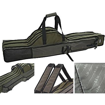 Modell 2019 DAM Rutentasche Rutenfutteral gepolstert 3 Fächer 1,10m bis 1,90m