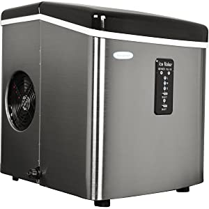 NewAir AI-100SS 28-Pound Portable Ice Maker, Stainless Steel