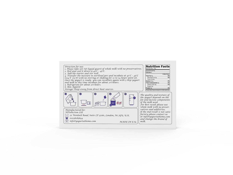 Amazon.com : Yogurt Starter Cultures - Pack of 10 Freeze-dried Culture Sachets for Balkan Style Plain Yogurt (10) : Grocery & Gourmet Food