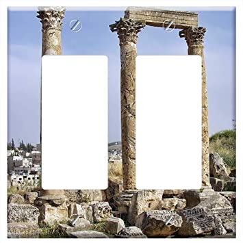 2d0832f4bcf5f Switch Plate Double Rocker/GFCI - Jerash Jordan Ancient Ruins ...