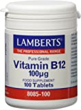 Lamberts Vitamina B12 100ug - 100 Tabletas