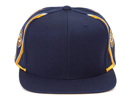2a1ea35f1b677 Mitchell   Ness Indiana Pacers Blank Front Short Hook Snapback at ...
