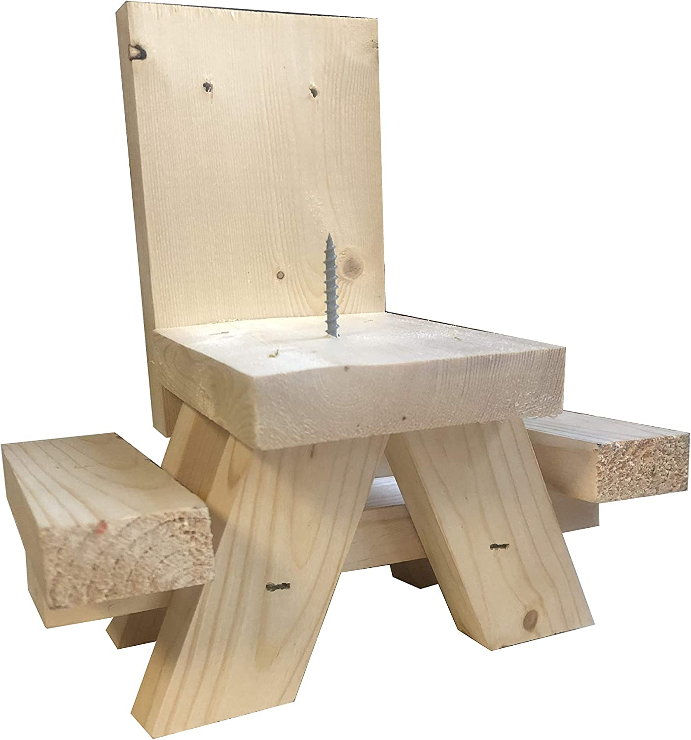 Solid Wood Squirrel Feeder Picnic Table Handmade In USA